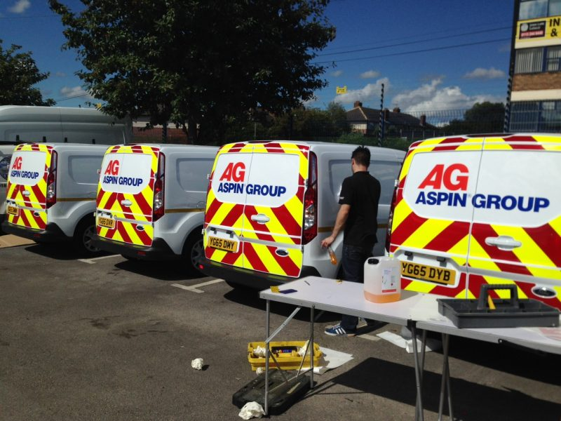reflective chevron rear vehicle graphics Oxfordshire
