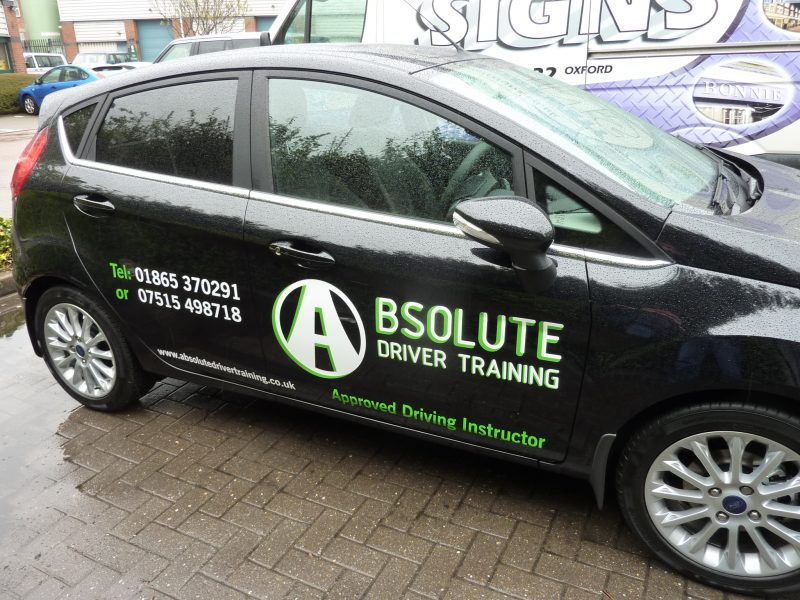 vinyl graphics Oxford car signage