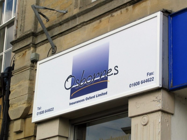 acrylic sign in aluminium frame Oxford Abingdon Kidlington