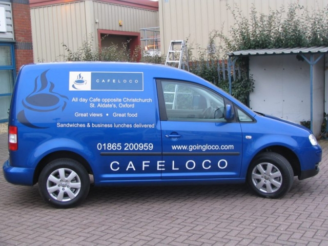 printed van graphics vehicle signs Oxfordshire