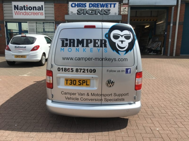 rear logo van signage part wrap Oxfordshire
