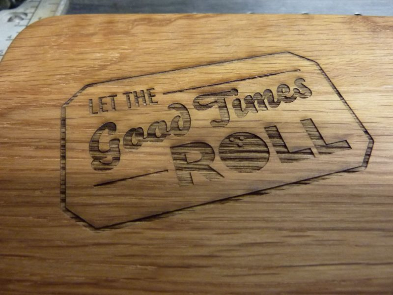 engraving for wood Oxford chopping board London