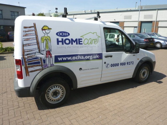vehicle graphics Oxford printed signage