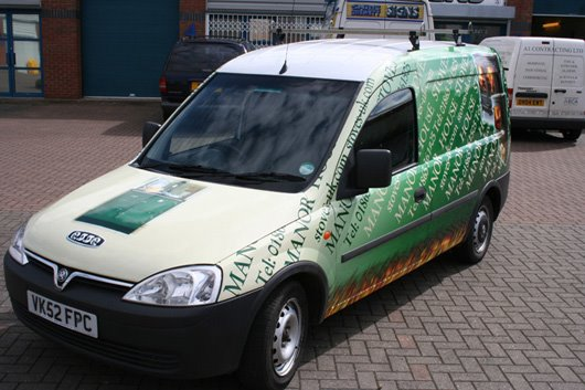 vehicle wrap printed graphics Oxford Banbury London