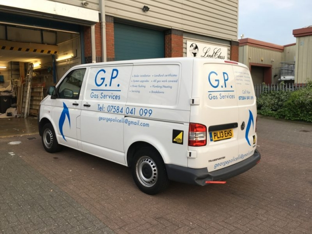 vehicle signage Oxford vinyl lettering