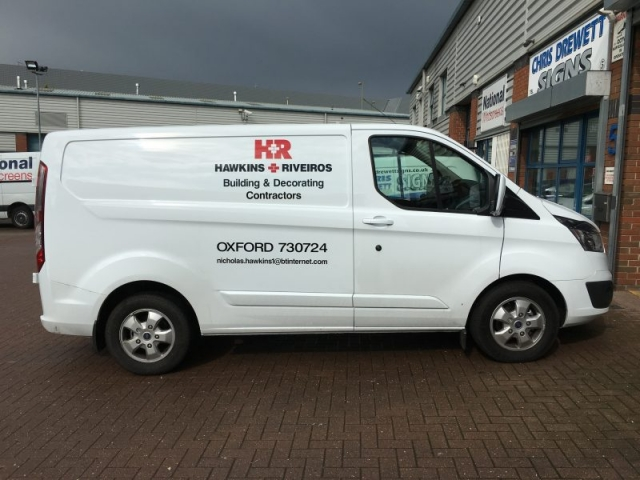 vehicle livery vinyl lettering Oxfordshire