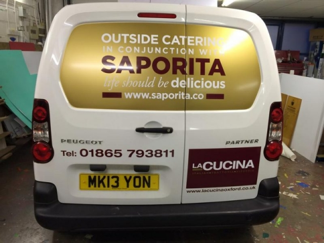 vinyl graphics for van vehicle signage Cowley Oxford