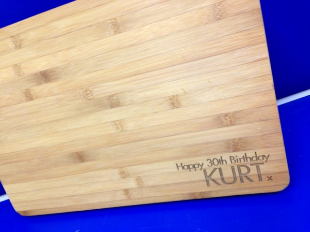 chopping board laser etched Oxford