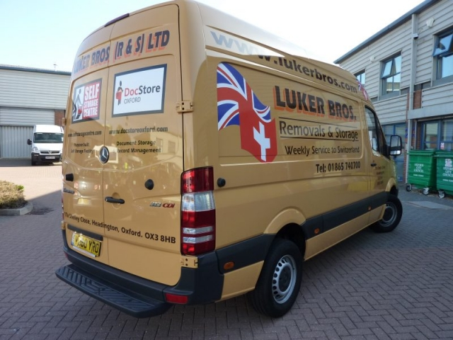 vehicle signage Oxford van graphics
