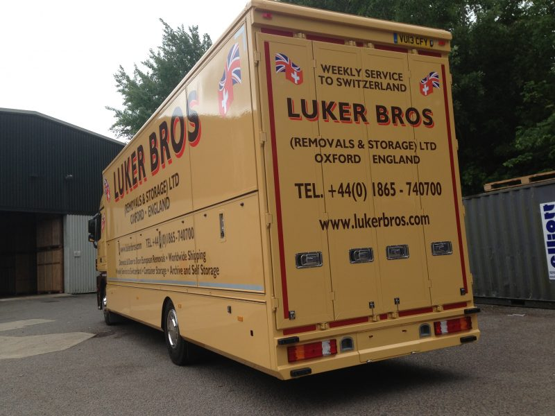 lorry graphics signs Oxford vinyl lettering