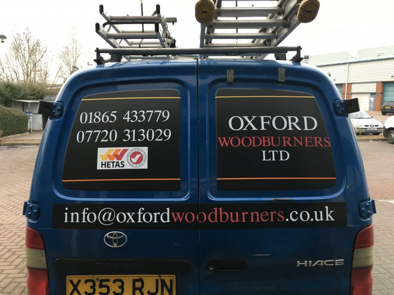 matt laminated printed signage van graphics Oxford