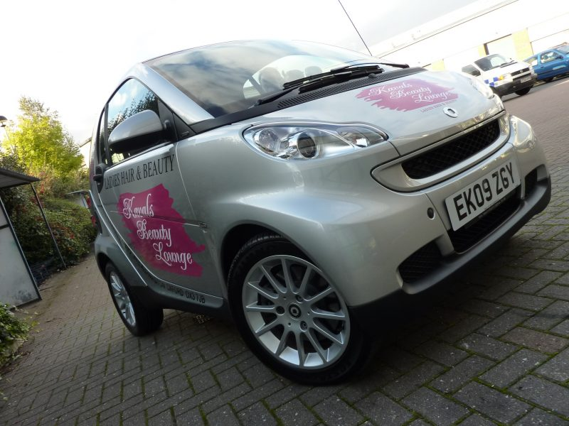 smart car graphics vinyl lettering Oxford Abingdon Headington