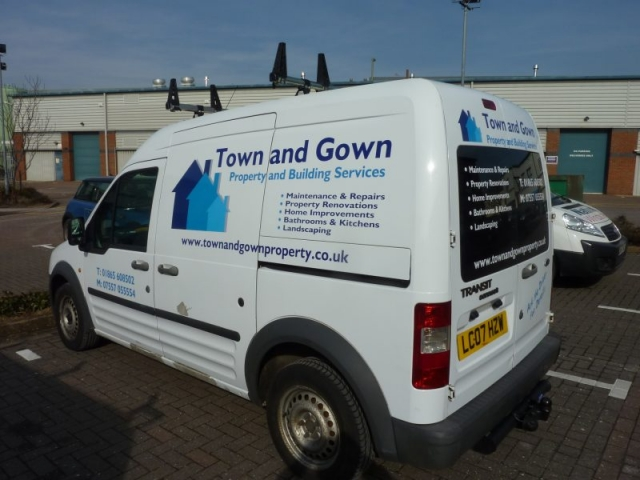 vinyl lettering for vans Oxford Kidlington Abingdon