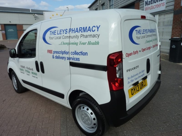 vehicle signage pharmacy van graphics Oxford Cowley Headington