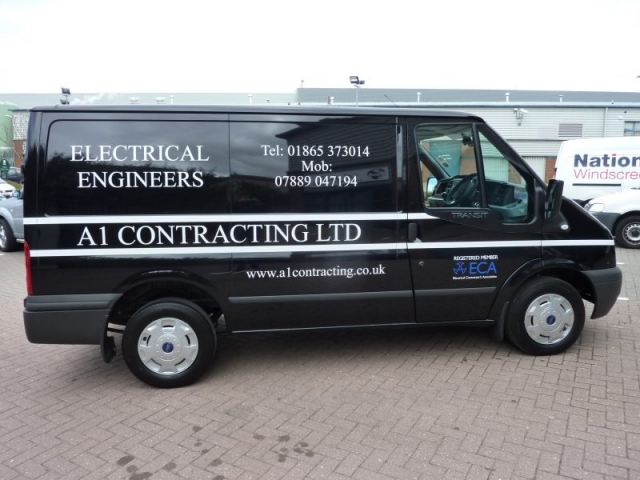 van signs electrians van signage Oxford Abingdon Kidlington Woodstock