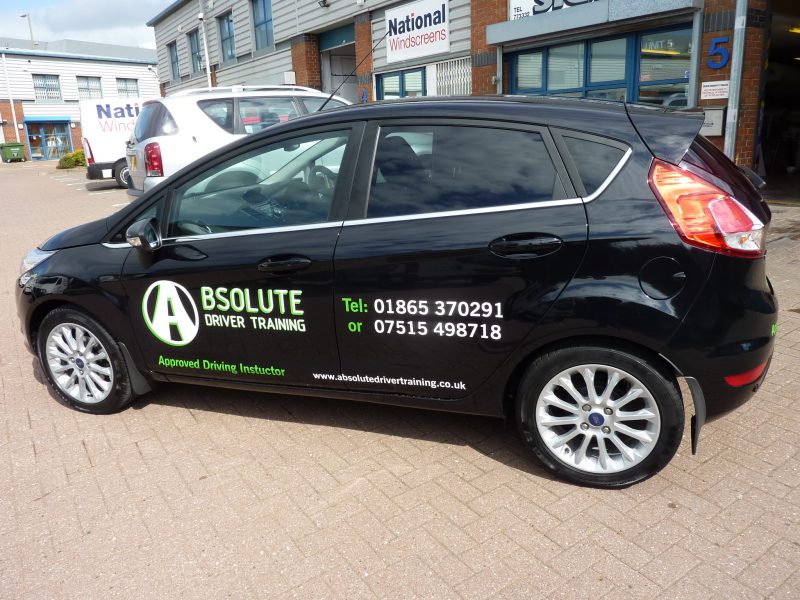 signage for driving instructor vehicles Oxford Abingdon Kidlington