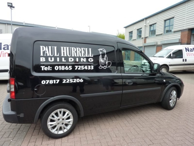 builders van signage Oxford Abingdon Kidlington Headington