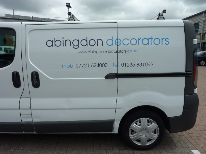 decorators van signage vinyl lettering Oxford Abingdon Headington