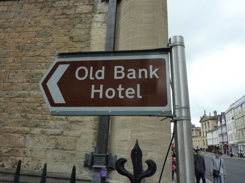 metal directional sign tourism signs Oxford London