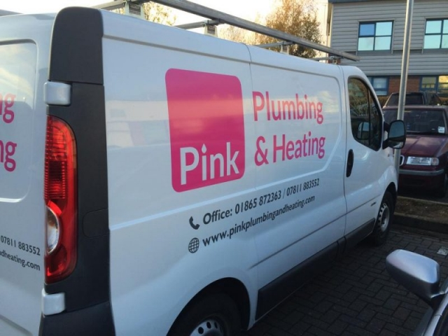 van signage plumbing and heating vehicles Oxford