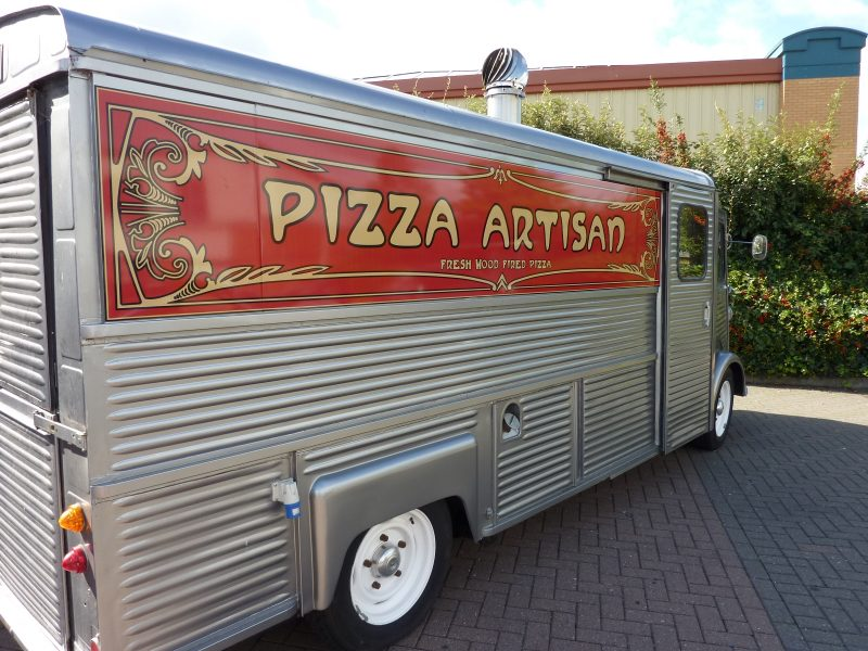 pizza van signage Oxford Kidlington