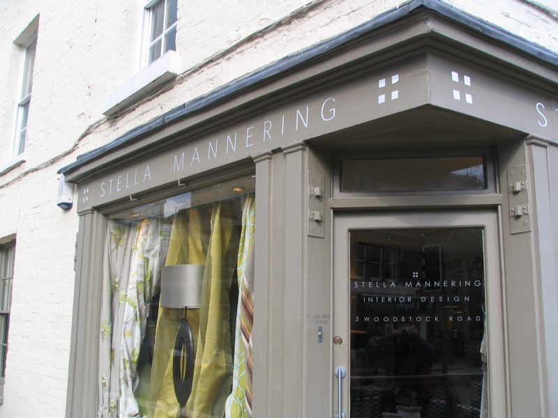 painted shop front vinyl lettering Oxford