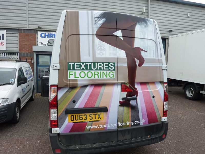 rear van wrap cast vinyl van signs