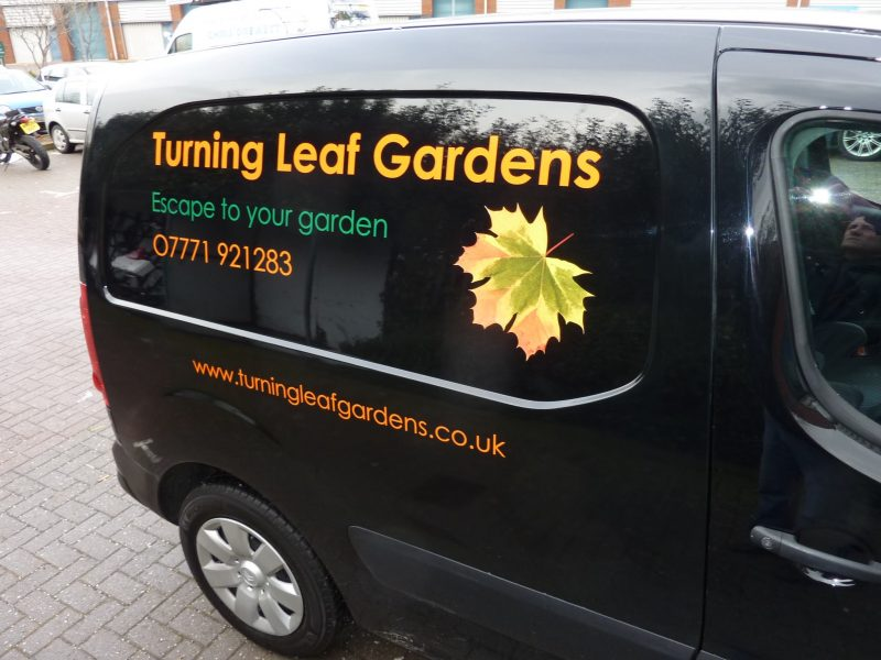 van signage vehicle graphics printed logo
