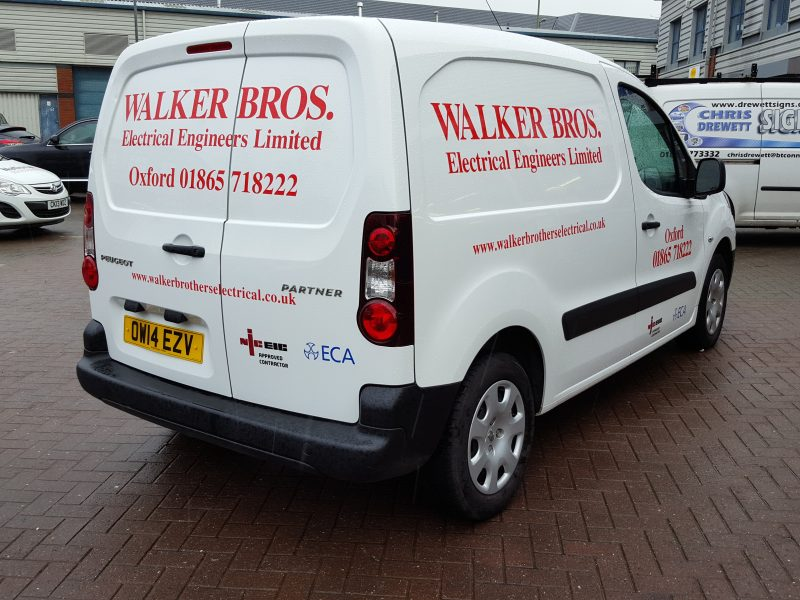 vinyl lettering onto van Oxford