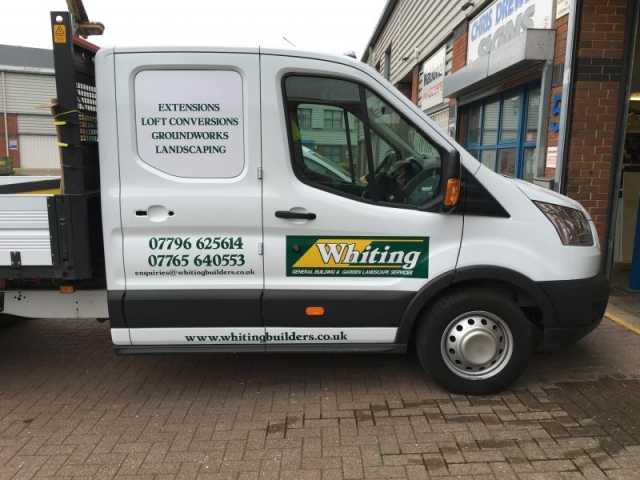 builders van signage Oxford Cowley Kidlington
