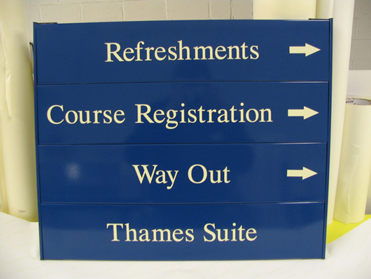 wall sign directory system Oxford