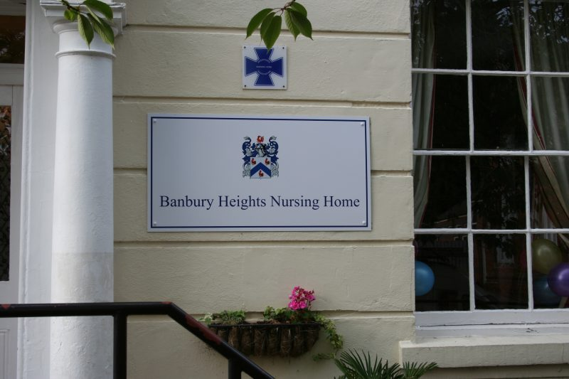 nursing home signs Oxford Banbury London