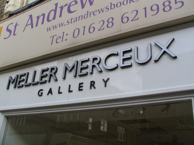 cut out lettering metal effect letters Oxford