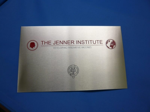 stainless steel plaque colour Oxford London