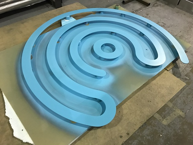 painted symbol cut out lettering