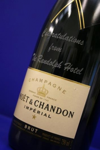 personalised champagne bottles Oxford London Bicester