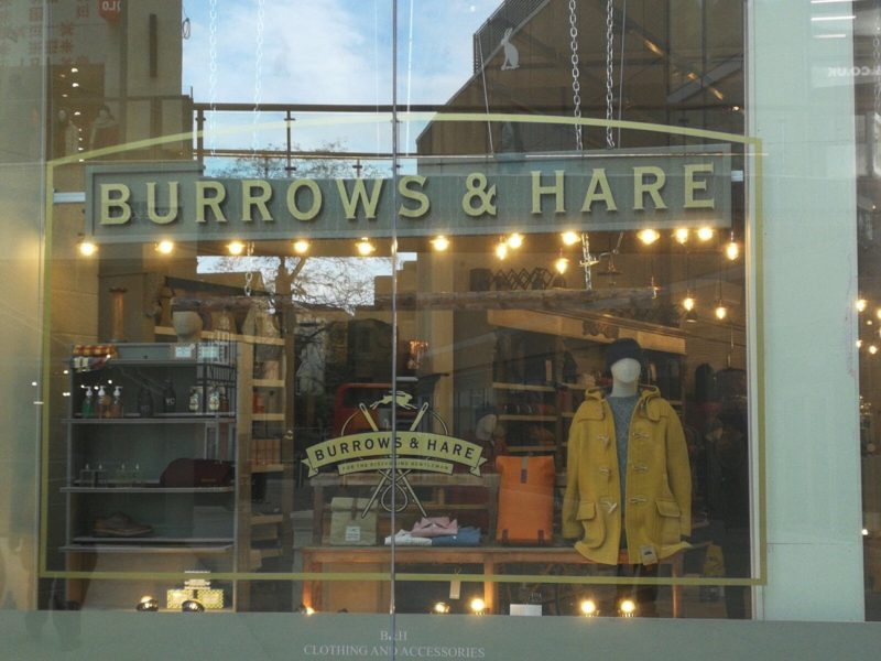 gold painted lettering shop displays Oxford