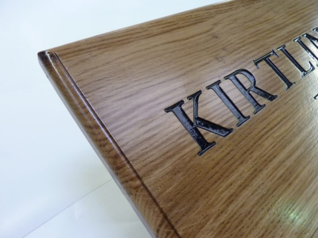hardwood sign painted lettering Oxford London
