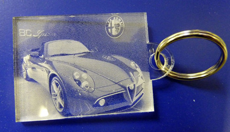 keyring laser etched Oxford
