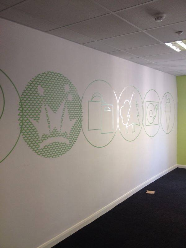 wall graphics bespoke signage Oxford London