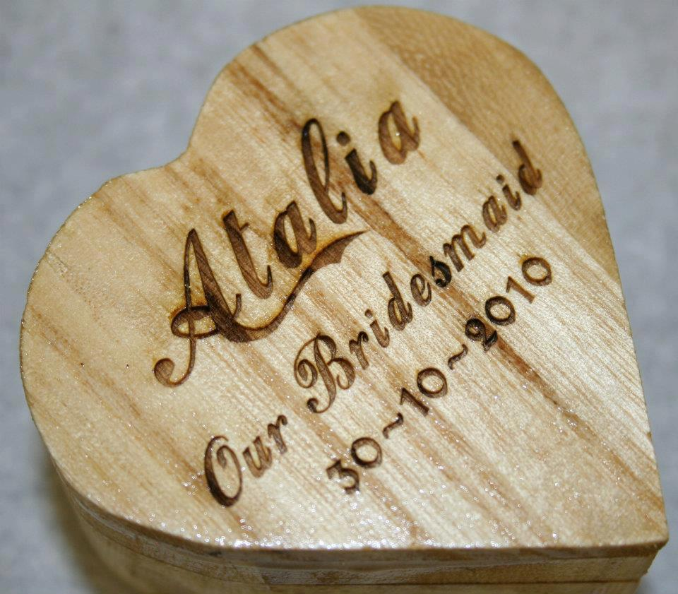 bridesmaid personalised gift London Oxford