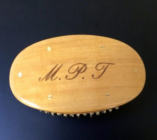 engraving for hair brush London Oxford