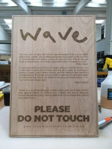 plywood sign laser etched Oxford
