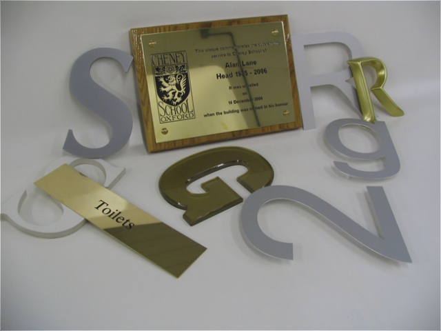cut out lettering metal acrylic Oxford London Witney