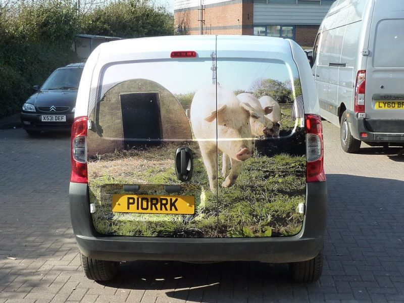 rear wrap vehicle graphics Oxford