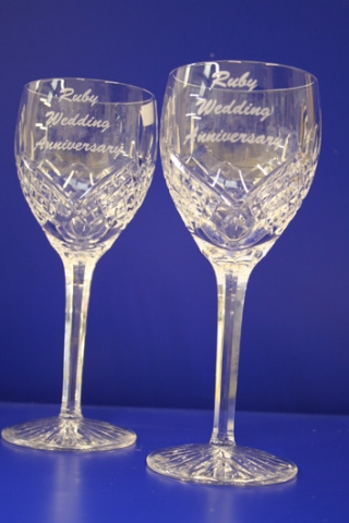wine glass engraving Oxford wedding gifts London