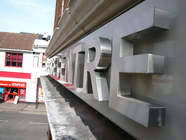 stainless steel built up lettering oxford