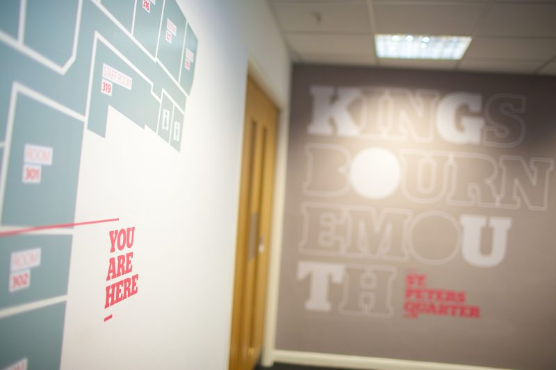 wall graphics vinyl for walls printed lettering Oxford London
