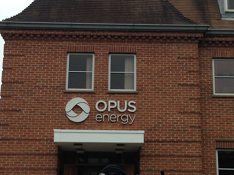 brushed stainless steel built up lettering Oxford Banbury Bicester