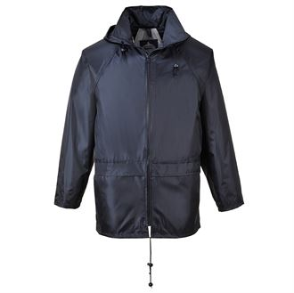 rain jacket workwear Oxford printed logo